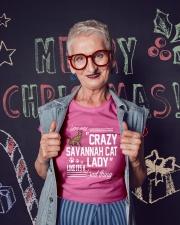 Crazy Savannah cat Lady Ladies T-Shirt lifestyle-holiday-crewneck-front-3