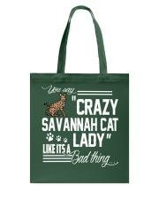 Crazy Savannah cat Lady Tote Bag thumbnail