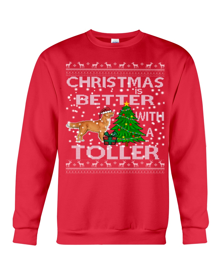Christmas Is Better With A Toller Crewneck Sweatshirt