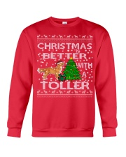 Christmas Is Better With A Toller Crewneck Sweatshirt front