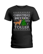 Christmas Is Better With A Toller Ladies T-Shirt thumbnail