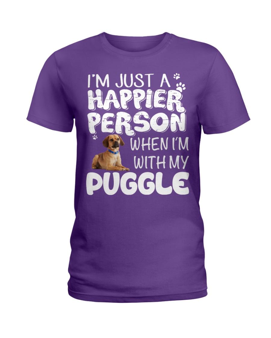 Happier Person Puggle Ladies T-Shirt