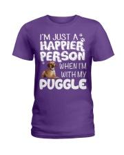 Happier Person Puggle Ladies T-Shirt front