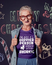 Happier Person Shorkie Ladies T-Shirt lifestyle-holiday-crewneck-front-3
