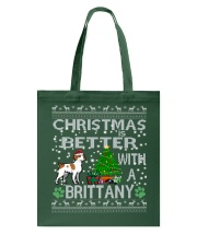 Christmas Is Better With A Brittany Tote Bag thumbnail