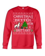 Christmas Is Better With A Brittany Crewneck Sweatshirt front