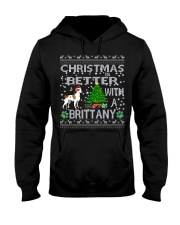 Christmas Is Better With A Brittany Hooded Sweatshirt thumbnail