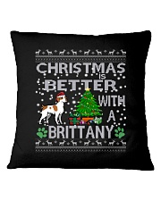 Christmas Is Better With A Brittany Square Pillowcase thumbnail