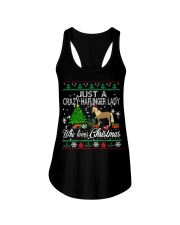 Crazy Haflinger Lady Who Loves Christmas Ladies Flowy Tank thumbnail