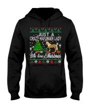 Crazy Haflinger Lady Who Loves Christmas Hooded Sweatshirt thumbnail