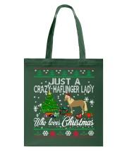 Crazy Haflinger Lady Who Loves Christmas Tote Bag thumbnail
