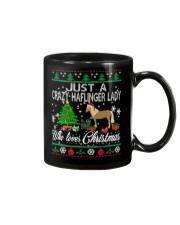 Crazy Haflinger Lady Who Loves Christmas Mug thumbnail
