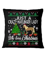 Crazy Haflinger Lady Who Loves Christmas Square Pillowcase thumbnail