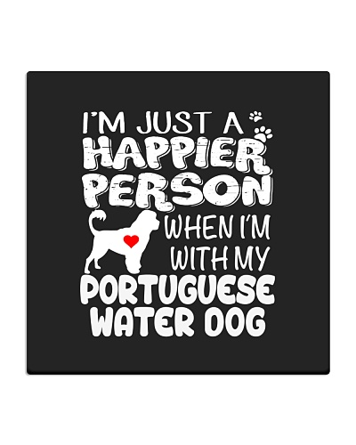 Happier Person Portuguese Water Dog