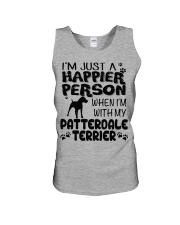 Patterdale Terrier Happier Person  Unisex Tank thumbnail