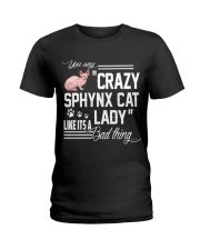 Crazy Sphynx Cat Lady Ladies T-Shirt front