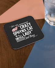 Crazy Sphynx Cat Lady Square Coaster aos-homeandliving-coasters-square-lifestyle-01