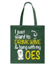 Drink Wine With Old English Sheepdog Tote Bag thumbnail