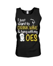 Drink Wine With Old English Sheepdog Unisex Tank thumbnail