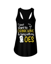 Drink Wine With Old English Sheepdog Ladies Flowy Tank thumbnail