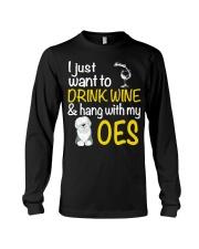 Drink Wine With Old English Sheepdog Long Sleeve Tee thumbnail