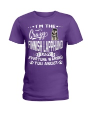 Crazy Finnish Lapphund Lady Ladies T-Shirt tile