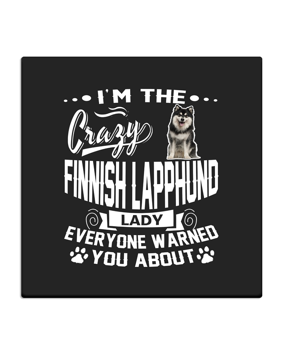 Crazy Finnish Lapphund Lady Square Coaster