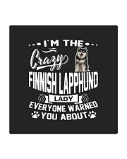Crazy Finnish Lapphund Lady Square Coaster front
