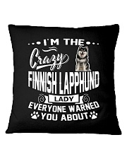 Crazy Finnish Lapphund Lady Square Pillowcase tile