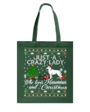 Crazy Lady Loves Maremma And Christmas Tote Bag thumbnail