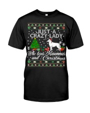Crazy Lady Loves Maremma And Christmas Classic T-Shirt thumbnail