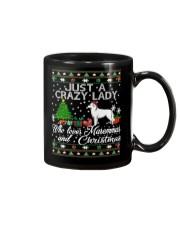 Crazy Lady Loves Maremma And Christmas Mug thumbnail