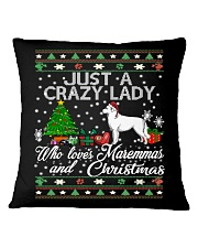 Crazy Lady Loves Maremma And Christmas Square Pillowcase thumbnail