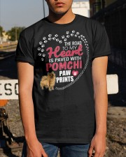My Heart Paved With Pomchi Paw Prints Classic T-Shirt apparel-classic-tshirt-lifestyle-29