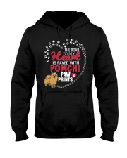 My Heart Paved With Pomchi Paw Prints Hooded Sweatshirt thumbnail