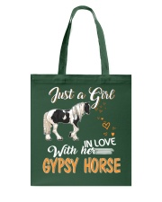 JUST A GIRL IN LOVE WITH HER GYPSY HORSE Tote Bag thumbnail