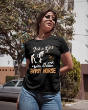 JUST A GIRL IN LOVE WITH HER GYPSY HORSE Ladies T-Shirt apparel-ladies-t-shirt-lifestyle-02