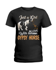 JUST A GIRL IN LOVE WITH HER GYPSY HORSE Ladies T-Shirt front