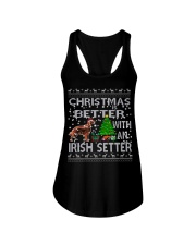 Christmas Is Better With An Irish Setter Ladies Flowy Tank thumbnail