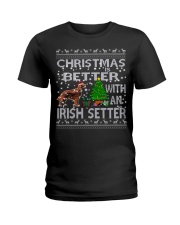 Christmas Is Better With An Irish Setter Ladies T-Shirt thumbnail