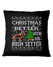 Christmas Is Better With An Irish Setter Square Pillowcase thumbnail