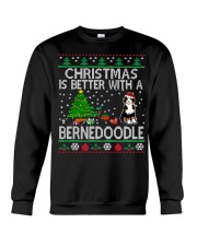 Christmas Is Better With A Bernedoodle Crewneck Sweatshirt tile