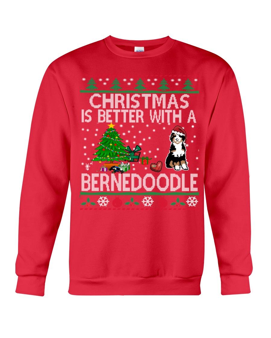 Christmas Is Better With A Bernedoodle Crewneck Sweatshirt