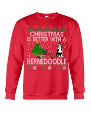 Christmas Is Better With A Bernedoodle Crewneck Sweatshirt front