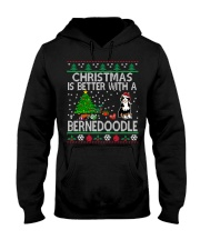 Christmas Is Better With A Bernedoodle Hooded Sweatshirt thumbnail