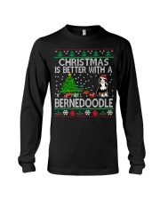 Christmas Is Better With A Bernedoodle Long Sleeve Tee thumbnail