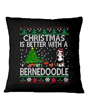 Christmas Is Better With A Bernedoodle Square Pillowcase thumbnail
