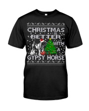 Christmas Is Better WIth A Gypsy Horse Classic T-Shirt thumbnail