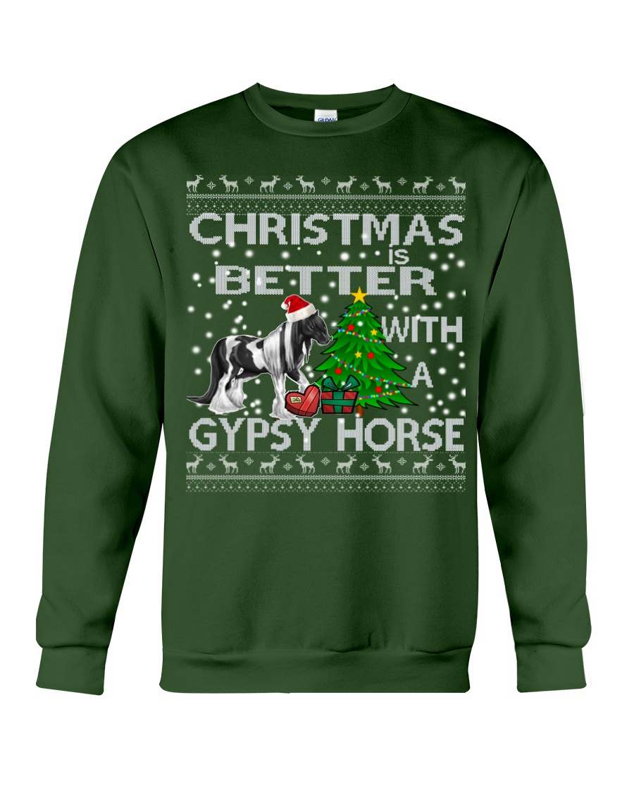 Christmas Is Better WIth A Gypsy Horse Crewneck Sweatshirt