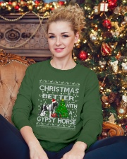 Christmas Is Better WIth A Gypsy Horse Crewneck Sweatshirt lifestyle-holiday-sweater-front-2